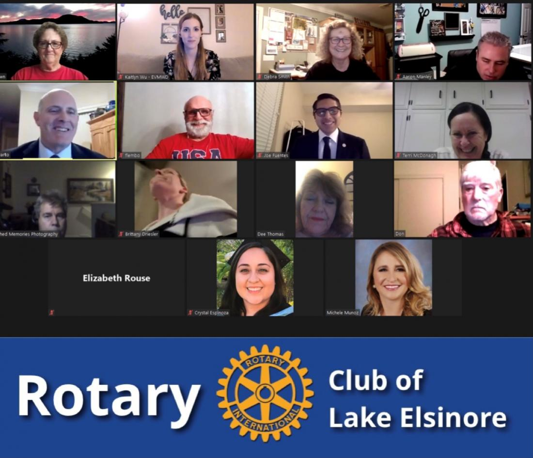 Featured Speaker At The Rotary Club Of Lake Elsinore Meeting